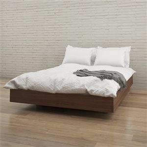Nexera Platform Bed - Walnut - Queen Size