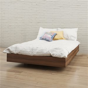 Nexera Walnut 76-in x 55.25-in Full Size Platform Bed