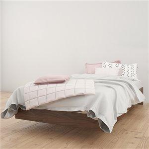 Nexera Walnut 76-in x 41.13-in Twin Size Platform Bed