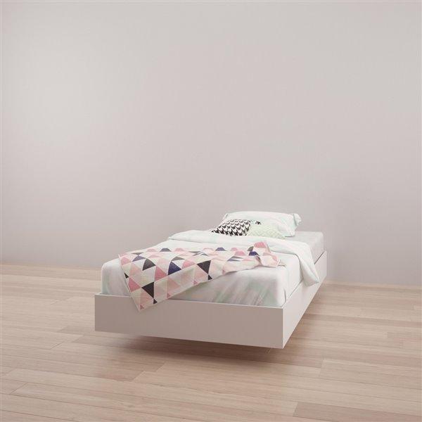 Nexera White 76-in x 41.13-in Twin Size Platform Bed