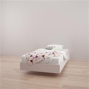 Lit plateforme simple Nexera, blanc