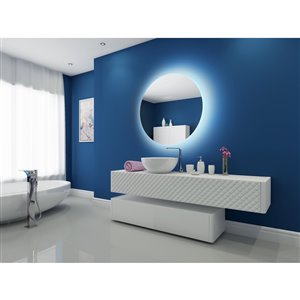 Paris Mirror Original 40-in x 40-in 3000K Round Backlit Mirror