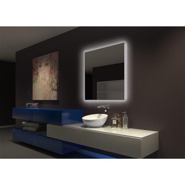 "Miroir original rétroéclairé, 36"" x 36"", 3000k"