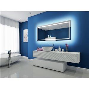 """Miroir à éclairage DEL intégré, 70"""" x 32"""", 6000K, 24V"""