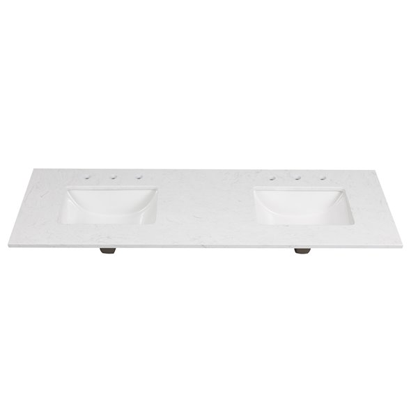 Foremost Ariston 61-in White Engineered Stone Top Widespread