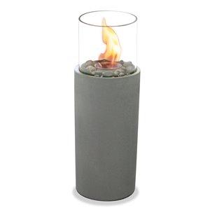 Brûleur de jardin à colonne, gris