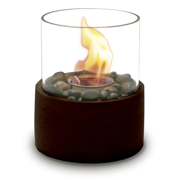 Brûleur de jardin rond, bronze