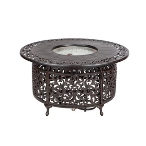 Convertible Black Outdoor Fire Pit