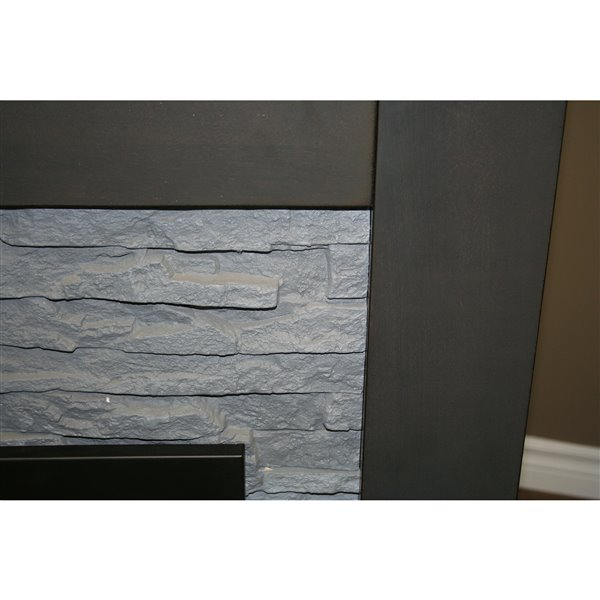 Paramount Highland Grey 42-in x 11 Indoor Fireplace Without Vent