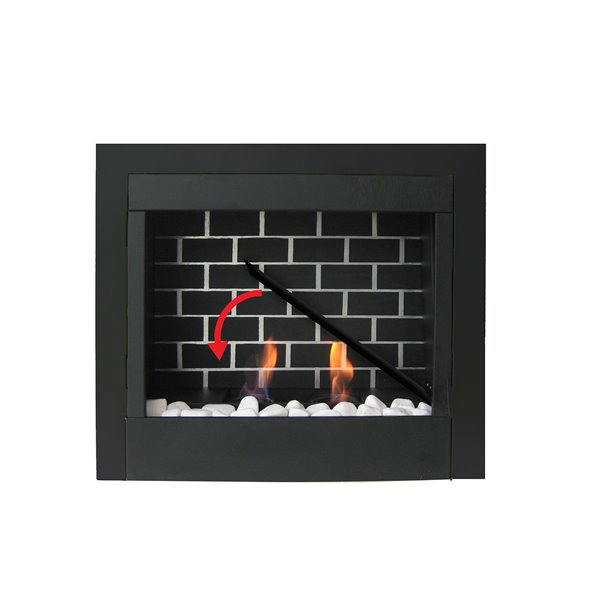Paramount Black 24.60-in x 8.90 Fuel Fireplace Insert