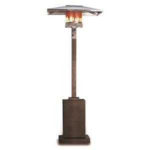 Chauffe-terrasse carré, bronze
