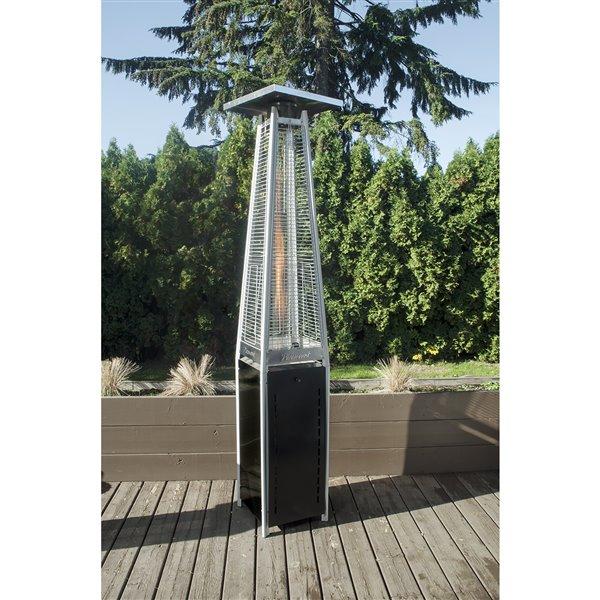 Paramount Glass Black Propane Patio Heater