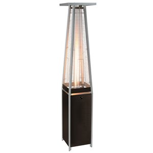 Glass Propane Patio Heater - Black