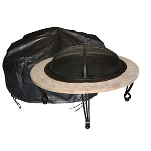 Paramount Black Outdoor Round Firepit Cover