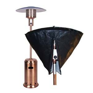 Paramount Black Outdoor Patio Heater Head Cover