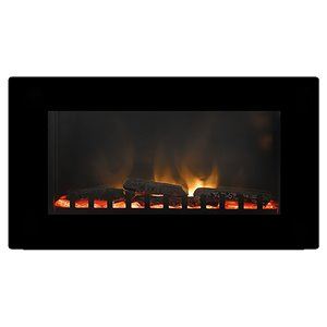 Paramount Black 30.6-in x 19.10-in Wall Mount Electric Fireplace