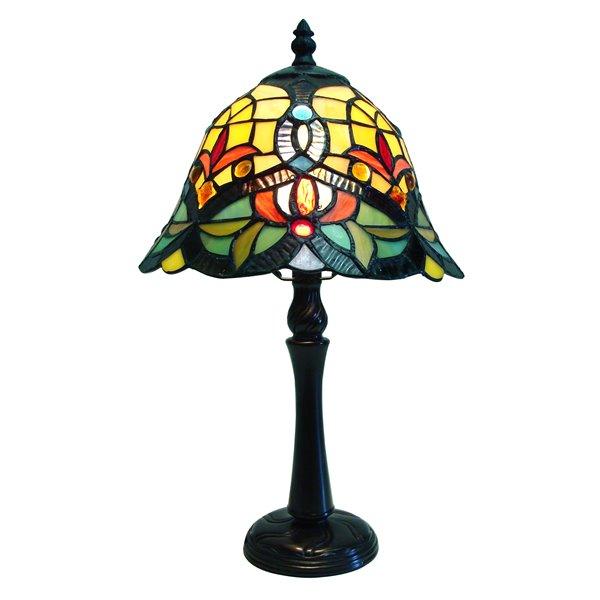 "Lampe de table Tiffany, 9"" x 16"""