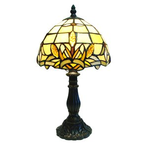 "Lampe de table Tiffany, 8"" x 15"""