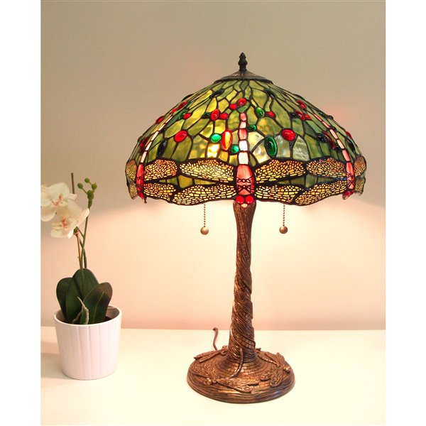 Fine Art Lighting Ltd. Tiffany 23-in Vintage Bronze 2-Light Table Lamp
