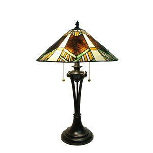 "Lampe de table Tiffany, 16"" x 26"""