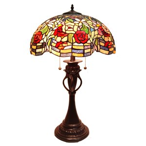 "Lampe de table Tiffany, 17"" x 28"""