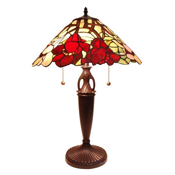 Fine Art Lighting Ltd. Tiffany 23.5-in Vintage Bronze 2-Light Table Lamp