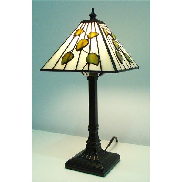Fine Art Lighting Ltd Mission 14 In Bronze Tiffany Style Table Lamp M817 Rona