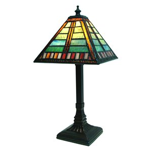 Fine Art Lighting Ltd. Mission 14-in Vintage Bronze Tiffany Style Table Lamp