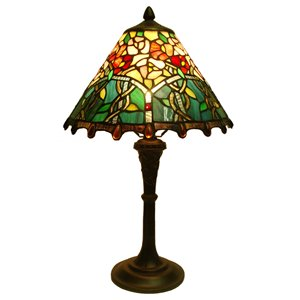 "Lampe de table Tiffany, 12"" x 20"""