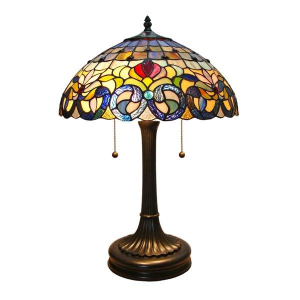 Fine Art Lighting Ltd. Tiffany 24-in Vintage Bronze 2-Light Table Lamp