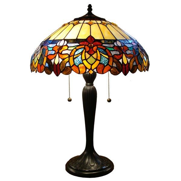 "Lampe de table Tiffany, 16"" x 25"""