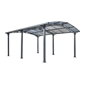 Gazebo Penguin Acay Carport with Gutter, Grey