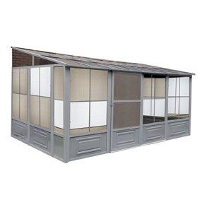 Gazebo Penguin Florence Add-A-Room 10 -ft x 16 -ft - Grey