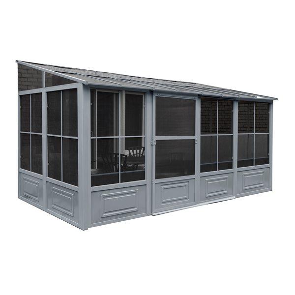 Gazebo Penguin 8-ft x 16-ft Grey Add a Room