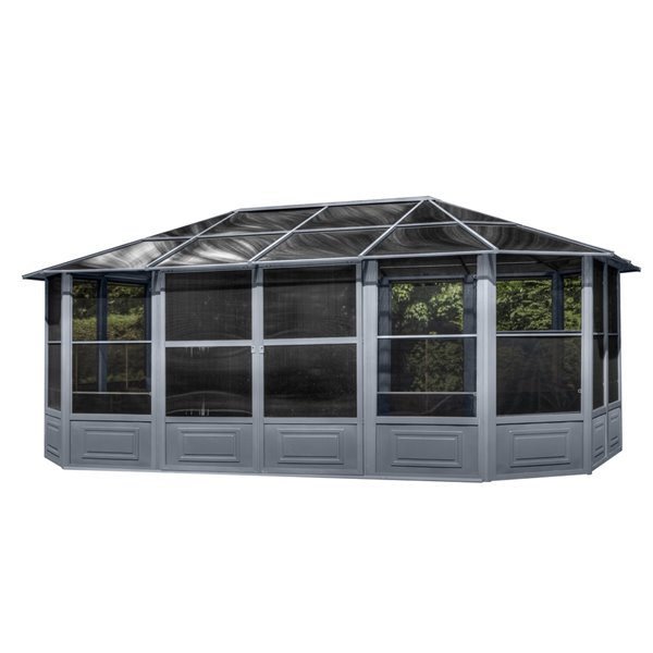 Gazebo Penguin 12-ft x 18-ft Grey Solarium