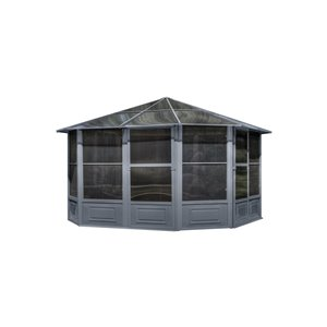 Gazebo Penguin 12-ft x 12-ft Grey Solarium Gazebo