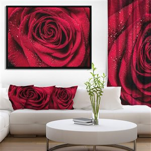 Framed Red Rose Canvas Print 32-in x 42-in