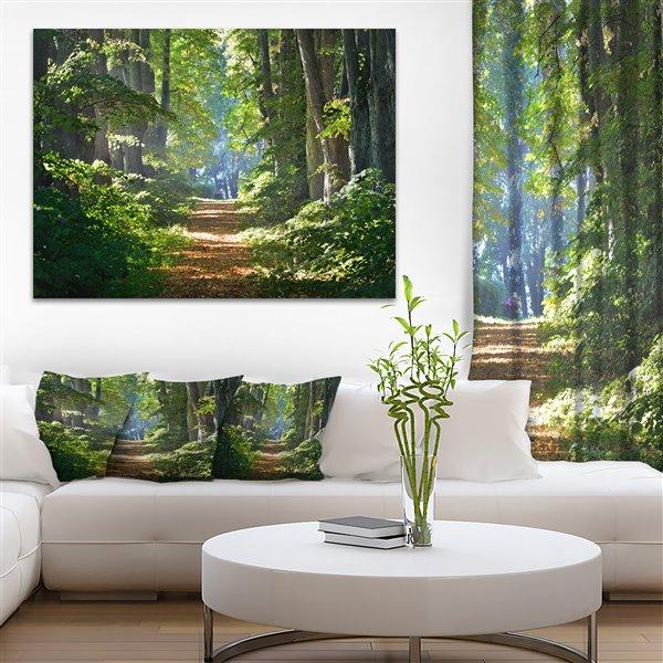 """Toile imprimée, forêt du matin, 30"""" x 40"""""""