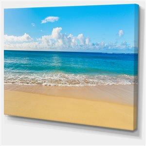 """Toile imprimée, paisible plage de mer tropicale, 30"""" x 40"""""""