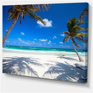 Designart Canada Coconut Palms at Beach Wall Art 30-in x 40-in
