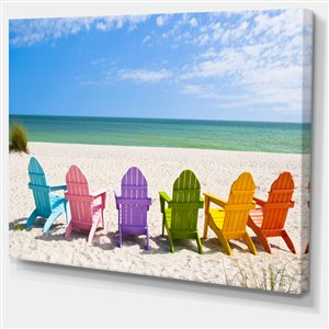 Adirondack Beach Chairs 30-in x 40-in Canvas Wall Art