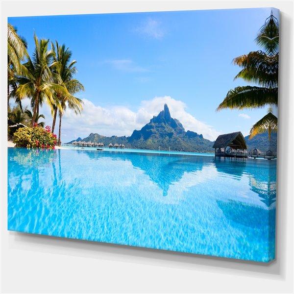 "Toile imprimée Bora Bora, 40"" x 30"""