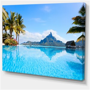 Bora Bora 40-in x 30-in Canvas Print Wall Art