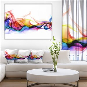 Designart Canada Smoke 30-in x 40-in Canvas Wall Art