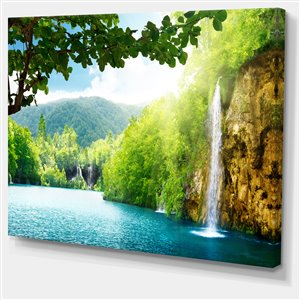 Waterfall 30-in x 40-in Canvas Print Wall Art