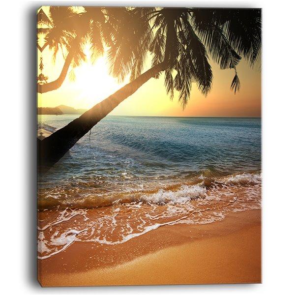 """Toile imprimée plage tropique - 30"""" x 40"""""""