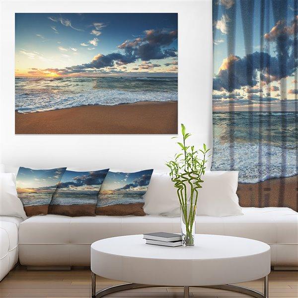 Designart Canada Sunrise Above the Ocean 30-in x 40-in Wall Art