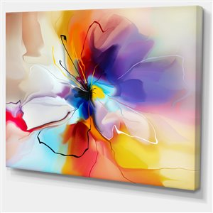 Designart Canada Multicolour Creative Flower 40-in x 30-in Wall Art