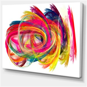 Designart Canada Colourful Thich Strokes Print on Canvas 30-in x 40-in