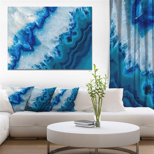 Designart Canada Geode Slice Macro Print on Canvas 30-in x 40-in